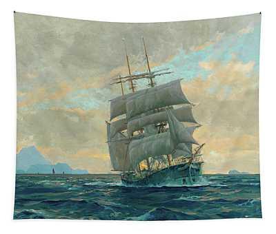 Sailing Ship By Capri Tapestry