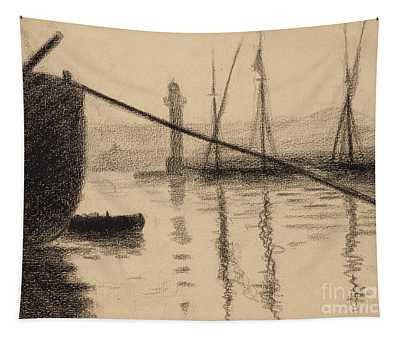 Saint Tropez, La Jetee Vue Du Chantier Naval Tapestry