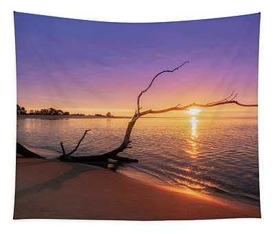 Salisbury Beach Sunrise Tapestry