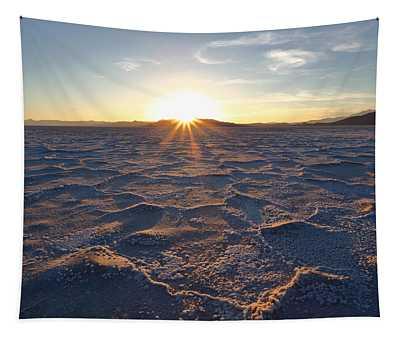 Salt Flat Setting Sun Tapestry