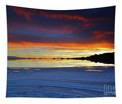 Salt Formations At Sunset Salar De Uyuni Bolivia Tapestry