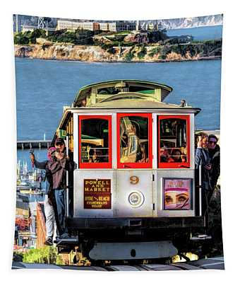 San Francisco Cable Car Tapestry