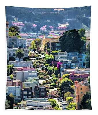 San Francisco Lombard Street Tapestry