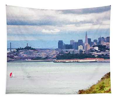 San Francisco Panorama View  Tapestry
