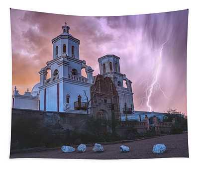 San Xavier Mission Lightning Tapestry