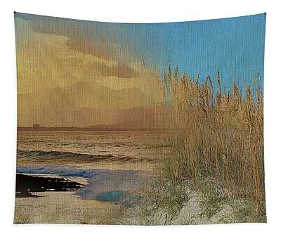 Sand Grasses On The Coastal Dunes Tapestry