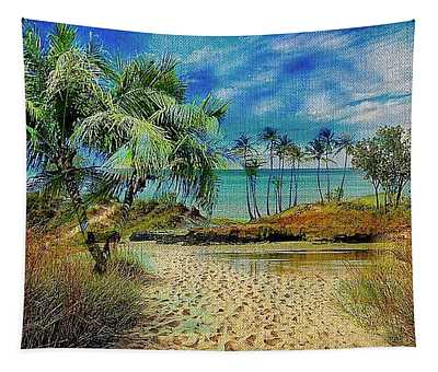 Sand To The Shore Montage Tapestry