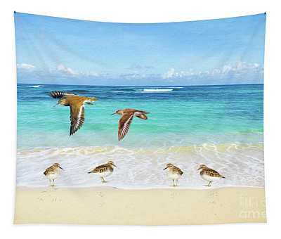 Sandpiper Party Tapestry