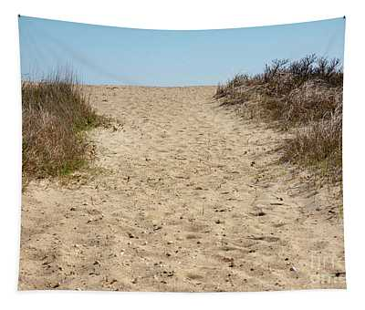 Sandy Footprints Tapestry
