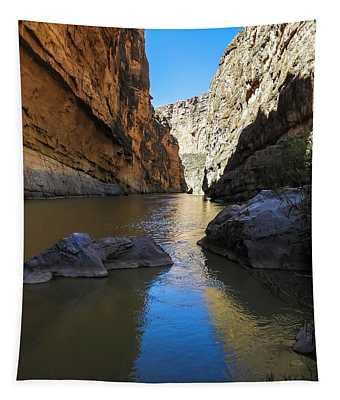 Santa Elena Canyon And Rio Grande River Tapestry