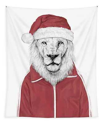 Santa Lion  Tapestry