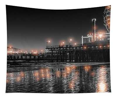 Santa Monica Glow By Mike-hope Tapestry