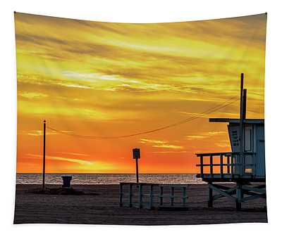 Santa Monica Lifeguard Tower 18 Tapestry