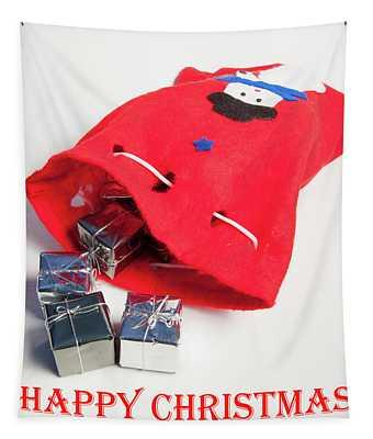 Santa Sack - Happy Christmas Tapestry
