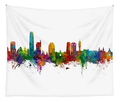 Santiago De Chile Skyline Tapestry
