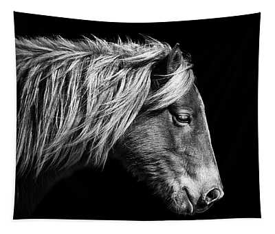 Sarah's Sweat Tea Portrait In Black And White Tapestry