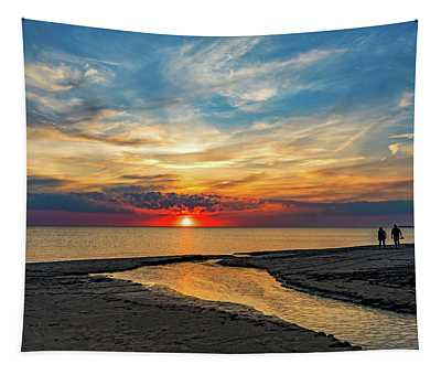 Sauble Beach Sunset - Evening Ritual Tapestry