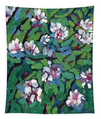 Saugeen Hillside Apple Blossoms Tapestry