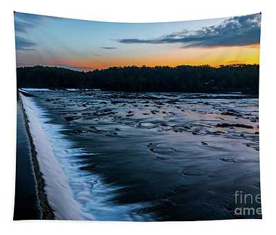 Savannah Rapids Sunrise - Augusta Ga Tapestry