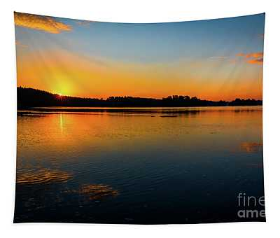 Savannah River Sunrise - Augusta Ga Tapestry
