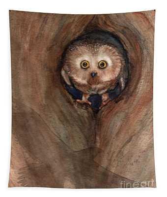 Scardy Owl Tapestry
