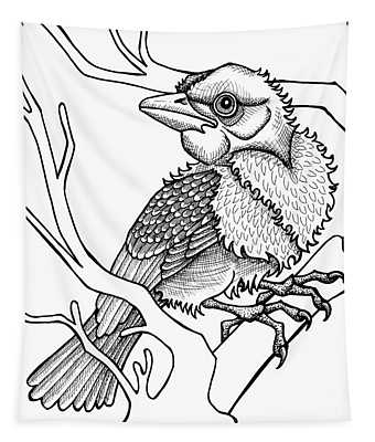 Scarlet Tanager Tapestry