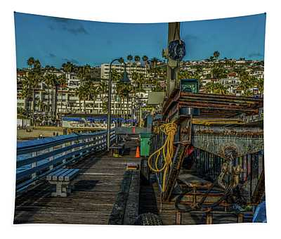 Scene - Beach Front - Construction Tapestry
