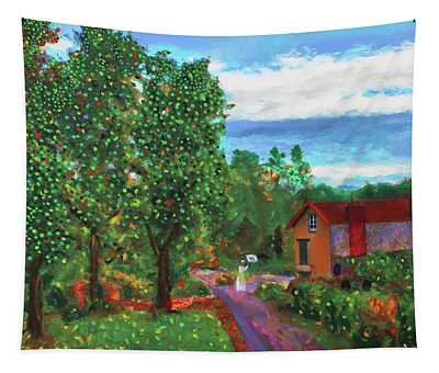 Scene From Giverny Tapestry