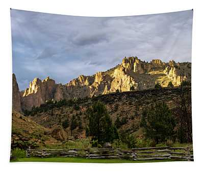 Scenic Fence Tapestry