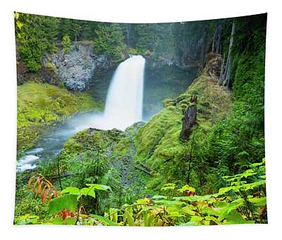 Scenic View Of Waterfall, Portland Tapestry