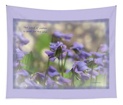 Scent Of Violets Tapestry