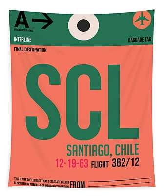 Scl Santiago Luggage Tag I Tapestry