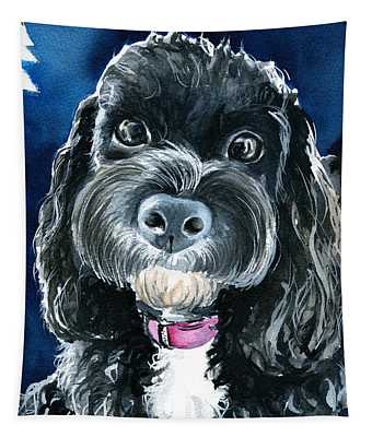Scout - Cavoodle Dog Painting Tapestry
