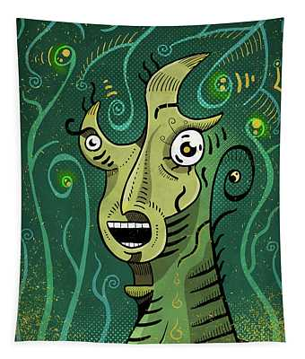 Tapestry featuring the digital art Scream by Sotuland Art