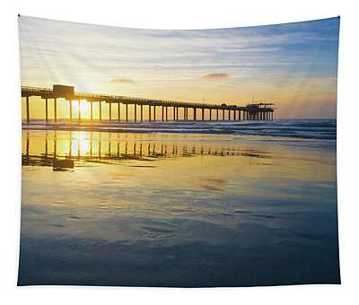 Scripps Pier Golden Hour 1 Tapestry