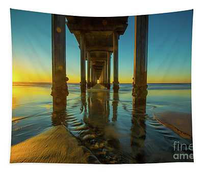 Scripps Pier Photographs Wall Tapestries