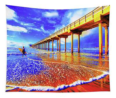 Scripps Surfer Retro Tapestry