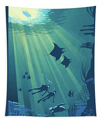 Scuba Dive Tapestry