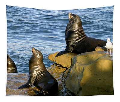 Sea Lion Rock Tapestry