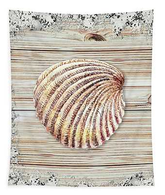 Sea Shell Beach House Rustic Chic Decor V Tapestry