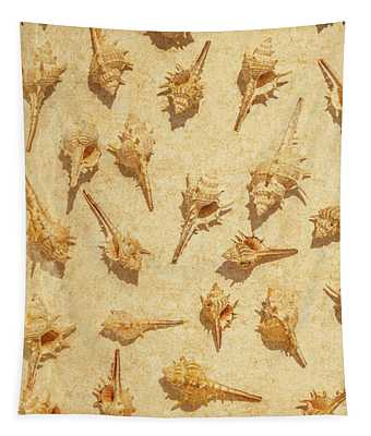Sea Shell Scroll Tapestry