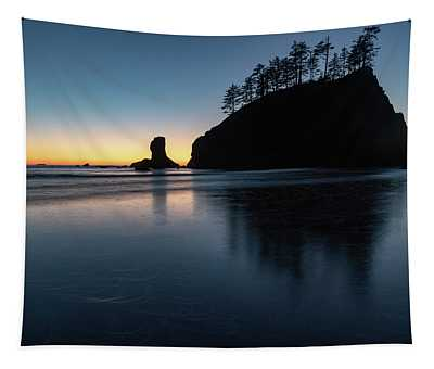 Sea Stack Silhouette Tapestry