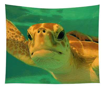 Sea Turtle Off The Mexican Coast - Dwp2086549 Tapestry