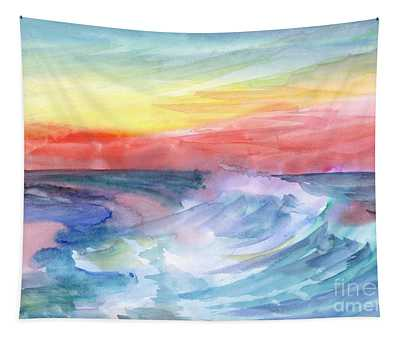 Sea Wave Tapestry