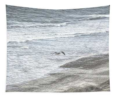 Seagull Sketch Tapestry