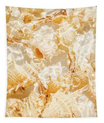 Seashell Tropics Tapestry