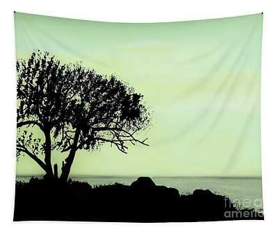 Seashore Silhouette Tapestry