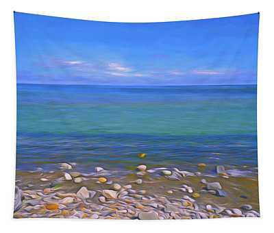 Season Of Blue Water 4  Tapestry