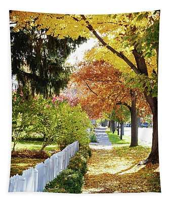 Seasons Sidewalk Stroll Tapestry