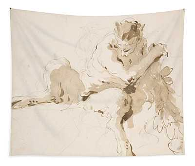 Seated Satyr Tapestry